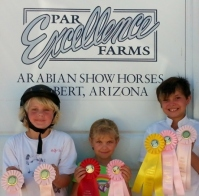 pefarms logo wth kids with ribbons small